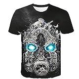 God Driver T-Shirt pour Borderlands 3 Jeu De Tir Impression 3D ExtéRieur Casual Haut À Manches Courtes Section Mince /...