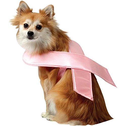 Pink Monster Kostüm Hunde - Hunde Fasching Halloween Karneval Kostüm Pink Ribbon Small
