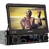 Pumpkin Autoradio 1 DIN Universel 7 Pouces Wince 6.0 Ecran Tactile Navi Voiture Lecteur DVD GPS Radio Bluetooth USB SD AUX Soutient Caméra de Recul RCA Type Commande au Volant
