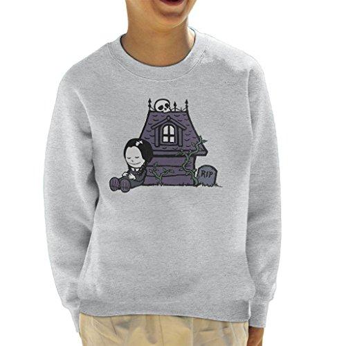 Strange Peanuts Wednesday Adams Family Kid's Sweatshirt