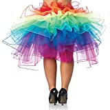 Regenbogen Rock Damen Mädchen Regenbogen Tutu Unterwäsche Blase Rock Dancewear Kostüm Petticoat Rainbow Skirt Tüllrock Partykleid Rock