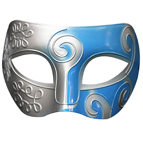 Culater Máscaras del partido de Halloween retro gladiador romano Espadachín Máscara para fiestas (one size, H)