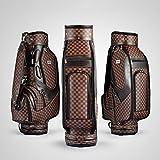 ZHANGXJ Sac de Golf,Forfait Balle de Golf Standard Sac 90X23x40cm Hommes Golf Club de Plaid Sac Femmes Balle Environnement PU Panier Sac Peut Contenir 13 Clubs...