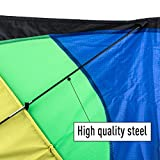 Anpro Huge Colorful Kite for Kids and Adults - Huge Size and Best Easy Flyer, Huge colorful kite with 60m/197 Feet Flying Line