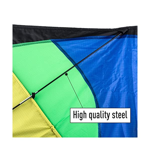 Anpro Huge Colorful Kite for Kids and Adults - Huge Size and Best Easy Flyer, Huge colorful kite with 60m/197 Feet Flying Line 2