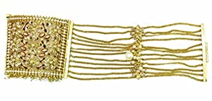 Shingar jewellery antique gold polki braselet dastband for women (6288-cb-a)
