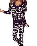 Damen V-Ausschnitt Zipper Hausanzug Sport Anzug Trainingsanzug Pants+ Sweatshirt Jogginganzug