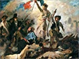 Posterlounge Forex-Platte 130 x 100 cm: Die Freiheit führt Das Volk, Studie von Eugene Delacroix/Bridgeman Images