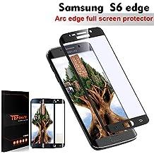 """Samsung Galaxy S6 Edge Protector de Pantalla, TEFOMATE® Vidrio Templado Protector de Pantalla Completa Full Glass Screen Protector para Samsung Galaxy S6 Edge 5.1"""" [Curvado 3D] [Black]"""
