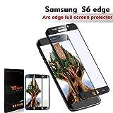 Samsung Galaxy S6 Edge Protector de Pantalla, TEFOMATE® Vidrio Templado Protector de Pantalla Completa Full Glass Screen Protector para Samsung Galaxy S6 Edge 5.1