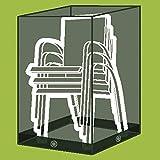 Siena Garden hauben de recouvrement et housse de chaise empilable, en polyester Oxford 600, 67x 66x 160cm, gris/anthracite