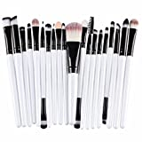Kolylong® Make up Pinselsets Kolylong Pinsel 20-tlgs schmink-pinselset Foundation Puder Lippen Mascara Lidschatten Doppelseitige Bürste Weiß
