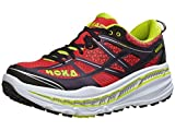 Hoka One One Mens Stinson 3 ATR Trail Running Shoes, Cayenne/Acid - Medium / 7 D