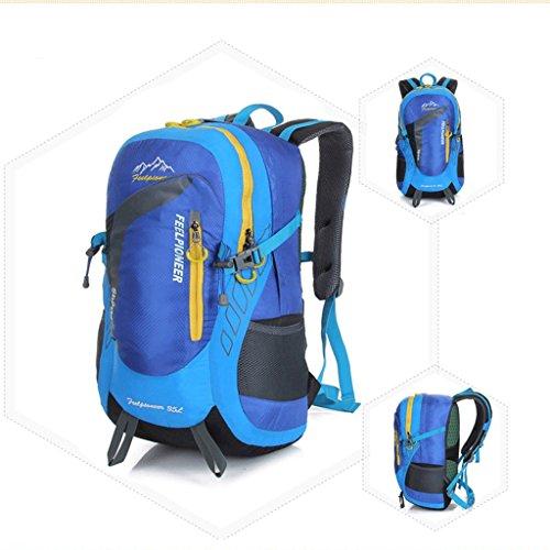I nuovi campeggio zaino sacchetti esterni di alpinismo professionale di guida sacchetto impermeabile ultraleggero blu e azzurro scuro