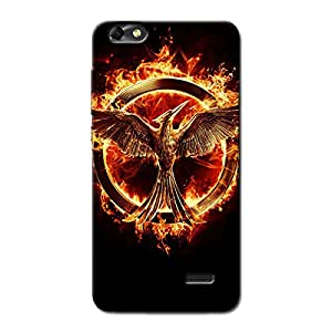 BLAZING FIRE SYMBOL BACK COVER FOR HONOR 4C
