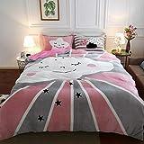TAYIBO Haushalts-Bettbezug,Cartoon warme Bettdecke, weich und bequem im Winter, Doppelbett @ SN5_Three,microfaser bettwäsche