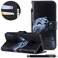 HUDDU Bunt Muster Handyhülle Samsung Galaxy S9 Leder Hülle Flip Wallet Case Ledertasche im Bookstyle mit Kartenfach... preisvergleich bei billige-tabletten.eu