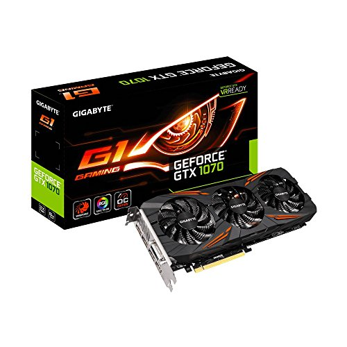 Gigabyte GV-N1070G1Gaming-8GD Scheda Grafica da 8GB, Nero