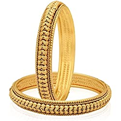 Jewels Galaxy gold-plated Bangle set (2.8) for Women/girls