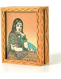 SHREE MANGALAM MART Precious Gemstone Painting Jewelry Box Gift