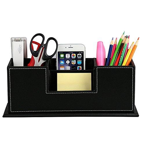 Hometek Desktop Storage Box in Pelle PU,Organizzatore