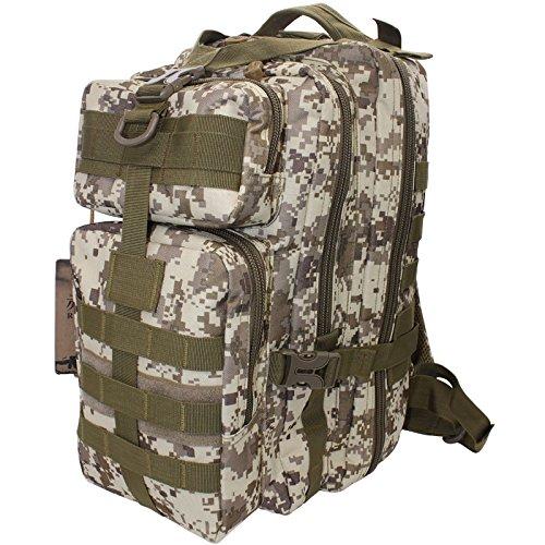 Outdoor schulter Rucksack mann Camouflage wandern Tasche 40 L 42 * 23 * 28 cm, schwarz, 20-35 Liter Wolf Braun