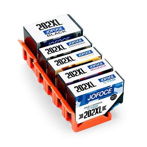 Jofoce Sostituzione per Epson 202 202XL Cartucce d'inchiostro, Compatibile con Epson Expression Premium XP-6000 XP-6005 XP-6001 Stampante (1 Nero, 1 Photo Noir, 1 Ciano, 1 Magenta, 1 Giallo)