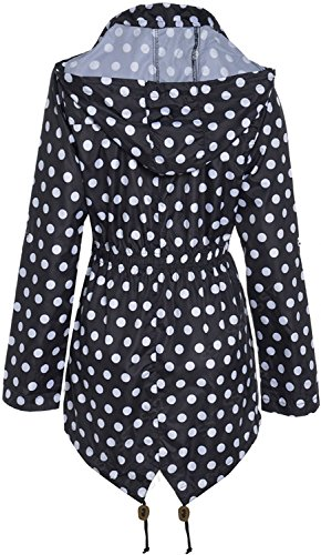 SS7 -  Giacca impermeabile  - Parka - Donna Black with White Spots