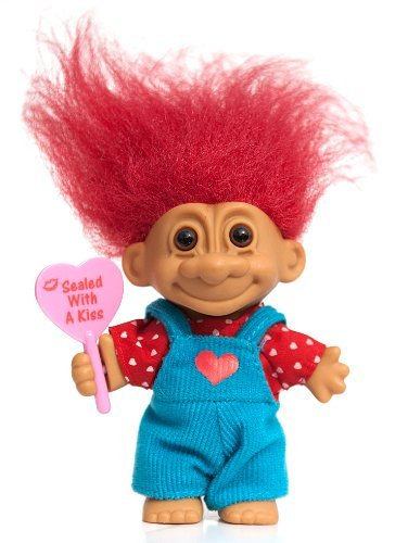 Lucky Kiss (My Lucky Sealed with a Kiss 6 Troll Doll (Red Hair) by Russ Berrie)