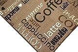 Teppich Modern Flachgewebe Gel Läufer Küchenteppich Küchenläufer Braun Beige Schwarz Creme mit Schriftzug Coffee Cappuccino Espresso Macchiato Größe 80×150 cm - 2