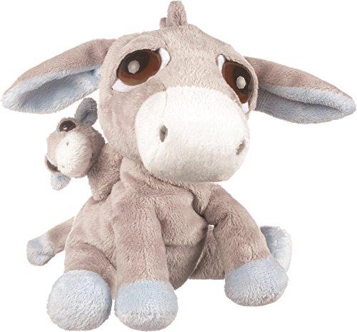 suki-gifts-10062-baby-esel-papa-pablo-mit-baby-23-cm-grau