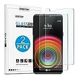 [2-Pièces] LG X Power Film Vitre Protection Verre Trempé [5.3 Pouces] OMOTON Ecran Protecteur LG X Power