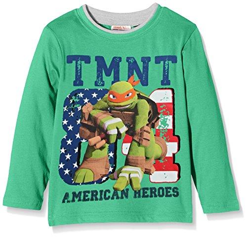 Nickelodeon Jungen T-Shirt Ninja Turtles American Heroes Grün-Grün, 8 Jahre (Ninja Turtles Shirt)