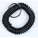 Spiralarmband - Regenbogenfarben - Wrist Coil (schwarz)