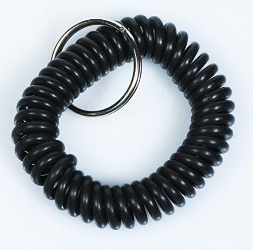 Artikelbild: Spiralarmband - Regenbogenfarben - Wrist Coil - schwarz