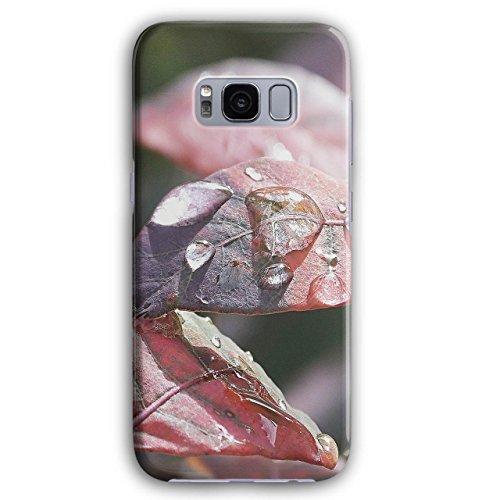 Blatt Regen Tau Kunst Natur Morgen Regen Tropfen 3D Galaxy S8 Hülle | Wellcoda