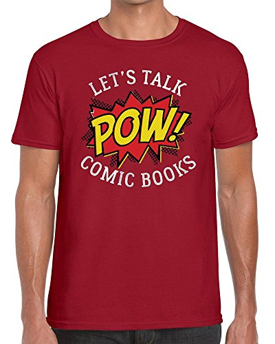 Funky NE Ltd Let's Talk Comic Books - Graphic Novels - Tshirt - 100% Cotton - Small to XXL - 8 Colours - Great Gift Idea by