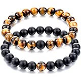 Tiger Eye Bracelet Black Tourmaline Bracelet Combination Unisex Bracelet 8MM Beads Size