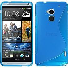 PhoneNatic Custodia HTC One Max Cover blu S-Style One Max in silicone + pellicola protettiva