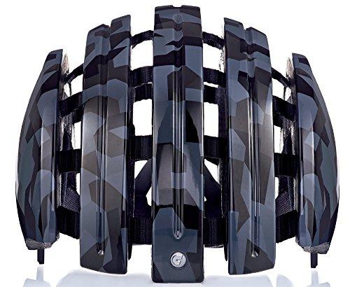 Fahrradhelm Foldable GTE Unisex black shiny camo 58-61