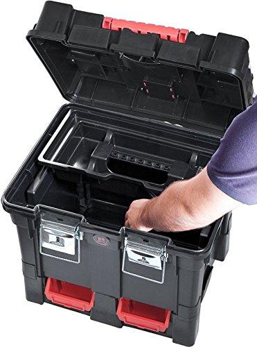 Werkzeugkoffer Werkzeugwagen Rollwagen Wheelbox HD Compact schwarz / rot Trolley Rollen - 3