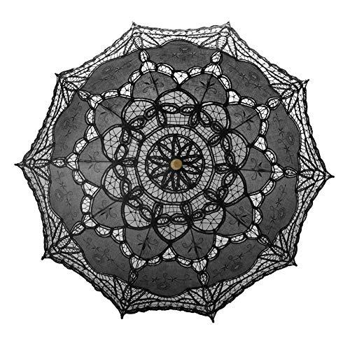Toptie ombrello in pizzo parasole fotografia nuziale nuziale per gli accessori del costume di halloween della decorazione