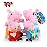 Peppa Pig Charaktere, ursprüngliche weiche Spielzeug: Papa, Mama, Peppa Pig & George erhältlich! (Packung mit 4 alle Zeichen)