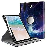 Infiland Rotating Custodia per Samsung Galaxy Tab S4 10.5 Pollice(SM-T830 Wi-Fi/SM-T835 LTE) 2018 Tablet(Auto Sonno/Veglia,con Protettivo Portapenne),Galassia