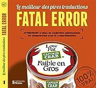 Fatal error par Éditions Prisma