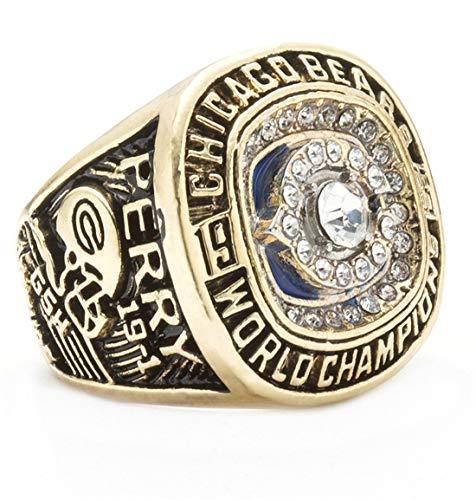 Sumoleo Herren Rostfreier Stahl Bling Diamant 1987 Jahr Chicago Meisterschaft Perry Einstellen Ringe,Größe 67 (21.3) (Nba-dvd-set)