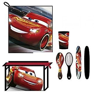 Cars- 3 3 Set Neceser higiene Comedor Escuela (Artesanía Cerdá 2500000802)