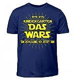 Shirtee Hochwertiges Kinder T-Shirt - Einschulungs Shirt für Jungen & Mädchen,Bye Bye Kindergarten Das Wars