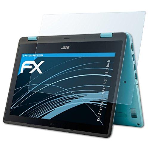 atFolix Schutzfolie kompatibel mit Acer Spin 1 SP111-31 11,6 inch Folie, ultraklare FX Bildschirmschutzfolie (2X)