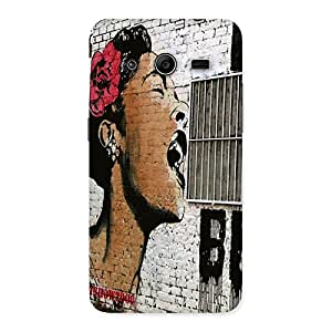 Cute Girl Singing Wall Back Case Cover for Galaxy Core 2